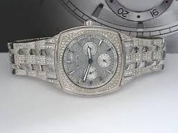 bulova 96c002 swarovski crystal silver tone day date dress men image is loading bulova 96c002 swarovski crystal silver tone day date