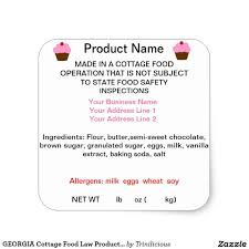 Ingredients Label Template Georgia Cottage Food Law Product Labels Zazzle Com In 2019