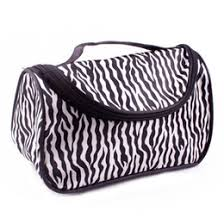 new zebra stripe beautycase portable waterproof women designer cosmetic makeup bag storage pouch organizer box make up whole fedex