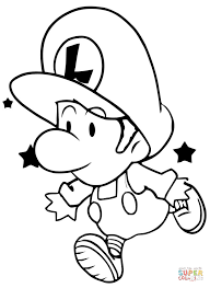 Small Picture Baby Luigi coloring page Free Printable Coloring Pages