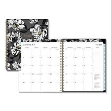 planners weekly monthly baccara dark cyo weekly monthly planner 11 x 8 1 2 2020