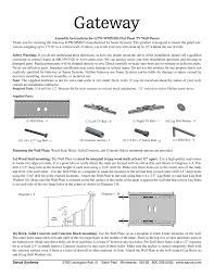 assembly instructions for gtw wmm103 flat panel tv wall mount