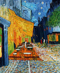 2018 oil painting cafe terrace at night by artist vincent van gogh painting high quality landscape art home decor hand painted from kixhome