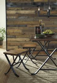 Industrial Style Dining Room Tables Industrial Style Rectangular Dining Room Table Set By Signature