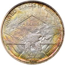 1935 Silver Half Dollar Value Chart 1935 Arkansas 50c Ms Silver Commemoratives Ngc