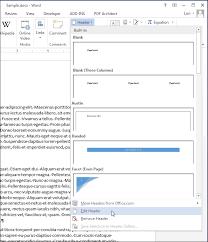 05 selecting edit header