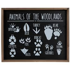 animals of the woodlands wood wall