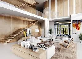 Interior Design High Ceiling Living Room,living-room-with-wooden-panels