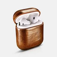airpod protective case in matching oil wax leather to your iphone precise cut out on the bottom for the lightning port and the connect on