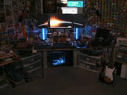 custom built desk and cd tower lamps