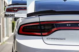 Dodge Charger Back Lights Smoked Tail Light Inset Overlays 2015 Dodge Charger