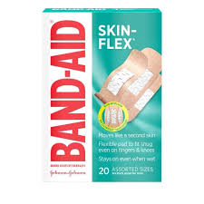 Band Aid Brand Skin-<b>Flex</b> Assorted Sizes <b>Adhesive Bandages</b> -20ct ...