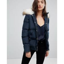 lipsy lipsy faux fur puffer jacket navy built for the elements or you know the