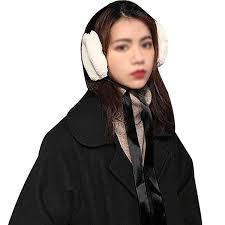 2019 <b>Korean</b> Style <b>Women Fashion Foldable</b> Plush Earmuff Tie ...