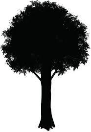 効率的な背景の描き方シルエットで描く木と岩 イラストマンガ描き