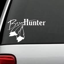 DEER HUNTING BOW Hunter Aim Target Rifles Car Bumper Vinyl Sticker ...