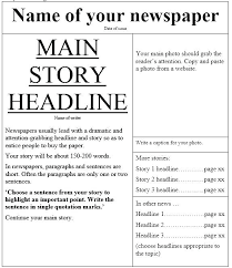 Newspaper Report Template Microsoft Word News Report Template Coinsnow Co