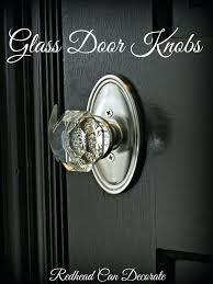 install glass door knobs antique with lock
