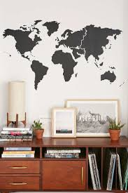Walls Need Love World Map Wall Decal