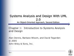Systems Analysis And Design Wiley Ch 1 Intro To Systems Analysis And Design