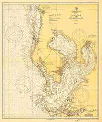 Vintage 1928 Nautical Chart Of Tampa Bay By Atomicphoto On