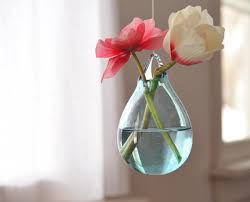 glass hanging vase hand blown glass art transpa pale blue flower vase wall decor wall art