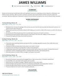 Resume Example For Bank Teller Musiccityspiritsandcocktail Com