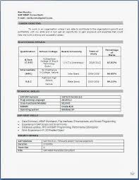 Resume Sample Format Collection Reference Of Sample Resume Format