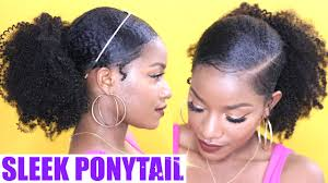 Natural Hairstyles Ponytails How To Sleek Low Ponytail On Natural Hair Youtube