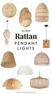 Rattan Pendant Light 10 Rattan Pendant Lights For Your Beach Home Light