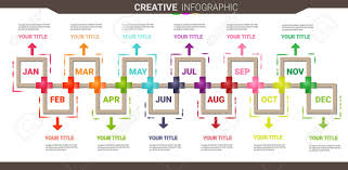 Year Timeline Timeline Business For 12 Months 1 Year Royalty Free Cliparts