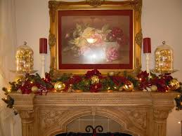 decorations amazing mantel decorations with gold frame wall picture and white candle stand plus