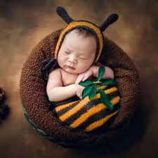 newborn baby knit sleeping bag costume photo photography props outfit