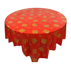 set of 10 round table chinese style plastic tablecloths home hotel tablecloth a1