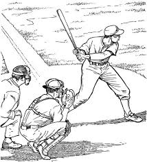 Batter Up Baseball Coloring Page Purple Kitty Coloring Pages