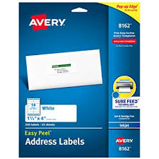 Avery 3 1 3 X 4 Template Amazon Com Avery Address Labels With Sure Feed For Inkjet Printers