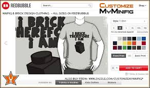 Customize My Minifig Redbubble Adult Clothing T Shirt With