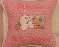 Baby sleeping pillow made from 100% cotton A precious baby
