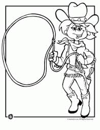 Cowboy Coloring Pages Animal Jr