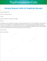 Application For Duplicate Fee Receipt Top Docx