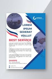 How To Make A Business Flyer Blue Business Flyer Design Template Ai Free Download Pikbest
