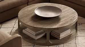 metropolitan round coffee table reclaimed wood coffee table