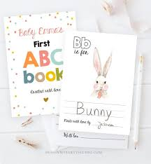 Preschool learning activity for daycare children. Editable Abc Coloring Book Baby Shower Game Shower Activity Baby Book Coloring Pages Alphabet Flash Cards First Abc Template Corjl Printable By Design My Party Studio Catch My Party