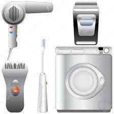 set of realistic detailed bathroom appliances — stock vector