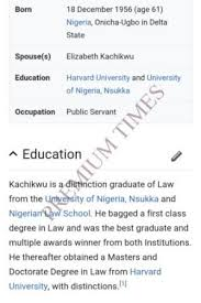 First Class Honours Amazing FACTCHECK Document Shows Kachikwu Lied About Graduating With First