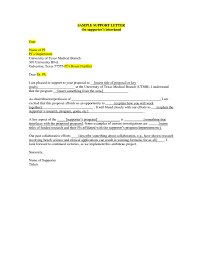 Sample Parole Support Letter From Employer | Creative Resume Ideas