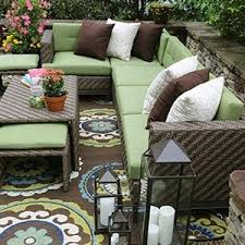 Amazon AE Outdoor Hampton 8 Piece Sectional with Sunbrella