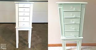 armoires diy jewelry armoire i found a white jewelry at a garage and decided