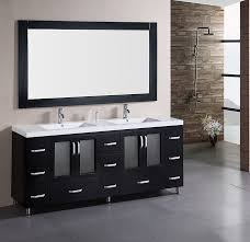 bathroom double sink vanity ideas glass countertop light grey granite added white undermount design dark full