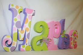 Kids Room, Decorative Letters For Kids Room Baby Name Letters Wood Letters  Polka Dot Decor